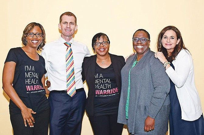 (l-r) Dr Lanee Rivers, Dr Graham Cates, Dr Annalease Richards, Dr Rashida Brown-Clarke, and Sarah Ward.