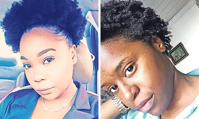 LEFT: Rolanda Davis, 22, pictured the day she claimed she was sent home from work in October due to her natural hairstyle. 