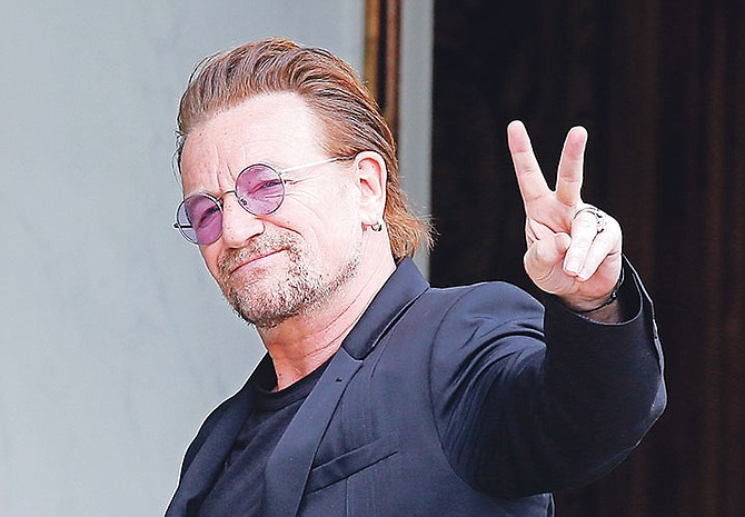 U2 singer Bono who, according to the Paradise Papers, used a company based in low-tax Malta to buy part of a shopping mall in Lithuania.
