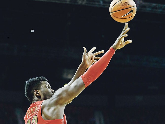 Arizona's Deandre Ayton shoots during the first half of Saturday's NCAA college basketball game against UNLV in Las Vegas.