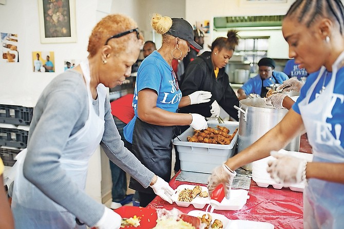 Helpers taking part in the campaign to provide 5,000 meals this Christmas