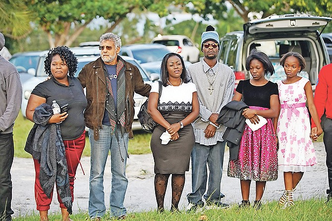 A prayer vigil for Jean Rony Jean-Charles held yesterday.