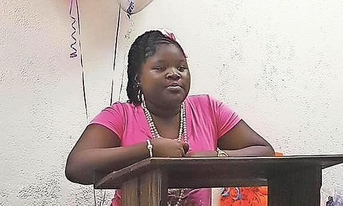 """Jamaeja Evans, 11, hosts her """"Princess Pamper Party""""."""