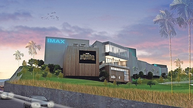 Concept artwork for the new IMAX cinema showing a poster for the Black Panther movie from Marvel - due to arrive at rival Galleria's screens on February 16. But now the word is that the site will have a soft opening in April.