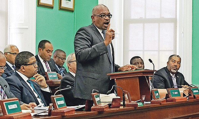 Prime Minister Dr Hubert Minnis in the House of Assembly on the day the Speaker threw insults and Miriam Emmanuel MP blundered - but he didn't have anything to say on the day to condemn such behaviour. Photo: Terrel W. Carey/Tribune Staff