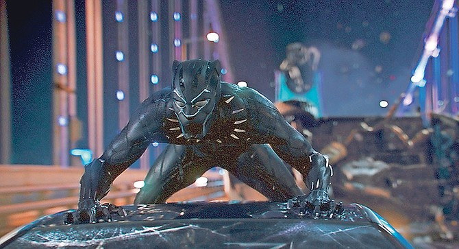 A scene from Marvel Studios' 'Black Panther'.