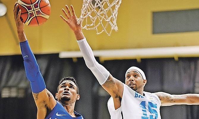 The Bahamas in action against the Dominican Republic. Photo: Shawn Hanna/Tribune Staff