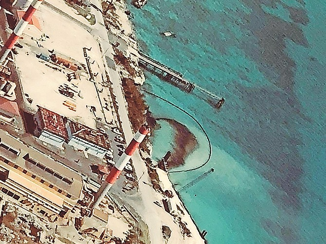 A picture provided by Save The Bays purport to show leak at Clifton.