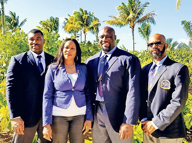 BBFF executive officers pictured above from left are Kenny Green, vice president; Lillian Moncur, General Secretary; Joel Stubbs, president and Wellington 'Cat' Sears, first vice president.