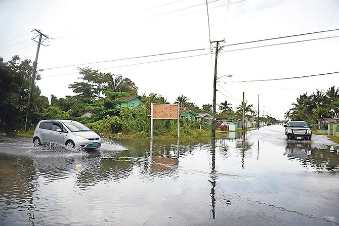 Flooded streets in Nassau. Photo: Shawn Hanna/Tribune Staff