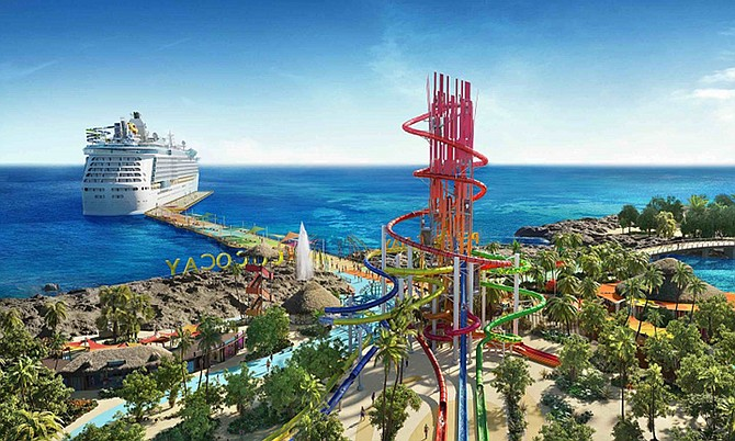 An artist's impression of Royal Caribbean Cruise Line's planned $200 million overhaul of Coco Cay.