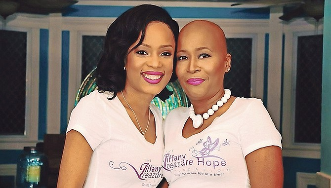 Three time cancer survivor inspires new treatment approach the tribune cancer survivor toni lewis right with felicia archer of fresh fire outreach ministries ccuart Choice Image