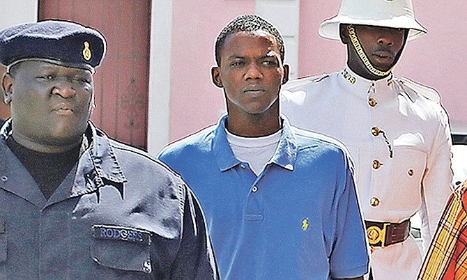 Tiano D'Haiti at a previous court appearance. Photo: Terrel W. Carey/Tribune Staff