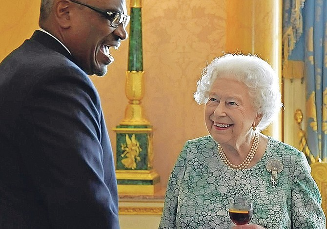 Prime Minister Dr Hubert Minnis meets Queen Elizabeth II on Thursday.
