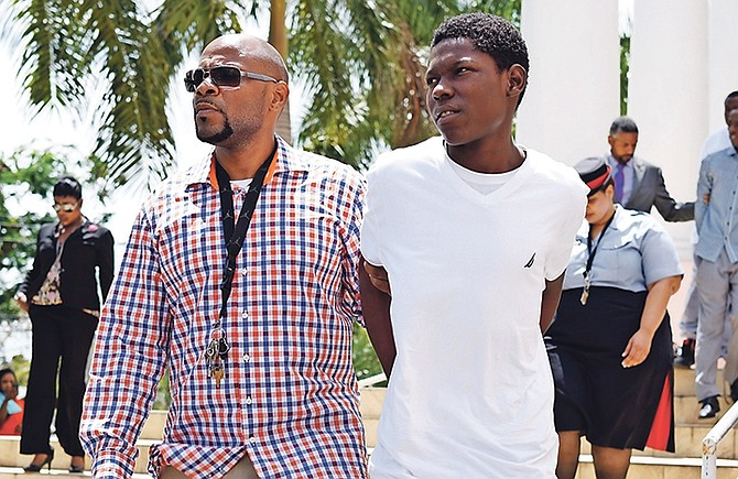 Remero Rolle pictured outside court yesterday.