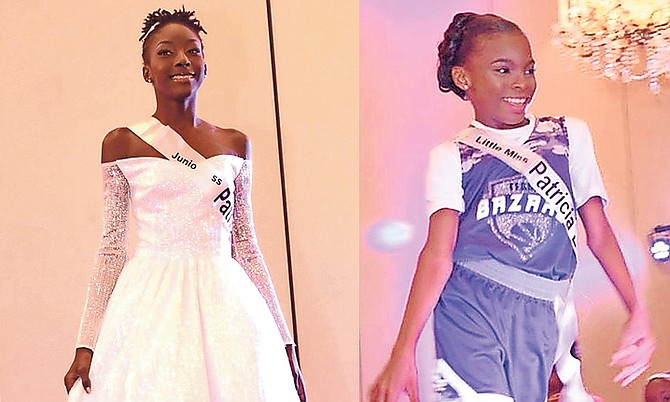 LEFT: Junior Miss Regency Bahamas Kassiti Capron wows the crowd during the evening gown segment.