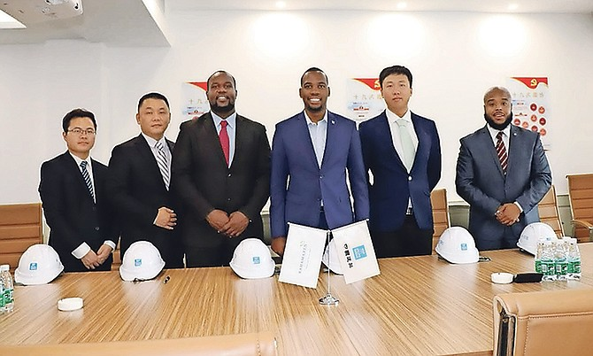 Pictured last week, from left: marketing manager at CCM Jin Ge; Bahamaren VP of China affairs Zhao Lei; international manager at CCM Michael B Wei; managing director at Bahamaren Latrae Rahming; chief technology officer at Bahamaren Shakeem Lightfoot and chief operating officer at Bahamaren Thomas Barnett.