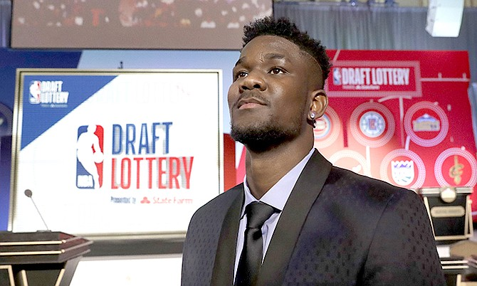 Arizona's DeAndre Ayton poses for a portrait before the NBA basketball draft lottery on Tuesday in Chicago.