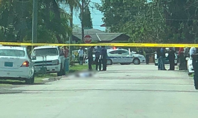 The scene of the shooting in South Beach.