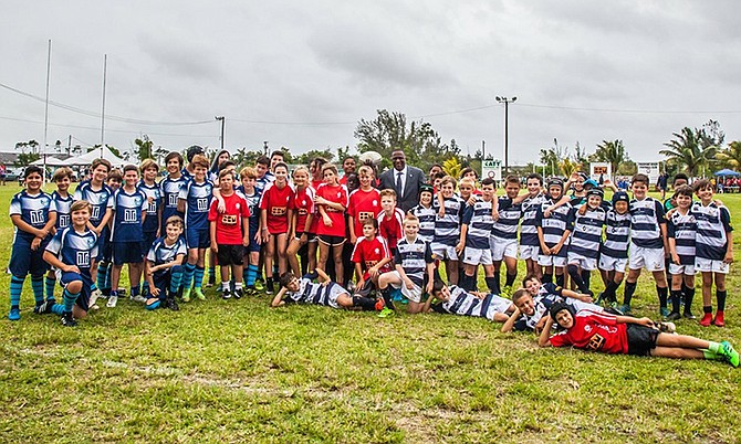 Some 300 youths from teams in Florida, Cayman, Bermuda New Providence and Grand Bahama converged in Freeport for the 8th annual Junior International Rugby Festival. The event received widespread support and gave coaches, players, parents and supporters the opportunity to engage in a weekend of fun and friendly competition.