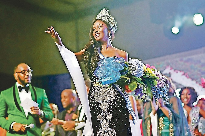 Miss World Bahamas Brinique Gibson at Atlantis Imperial Ballroom. Photo: Shawn Hanna/Tribune Staff