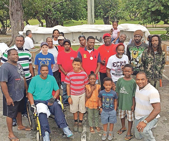 Metellus Chipman with members of Pigeon Nation.