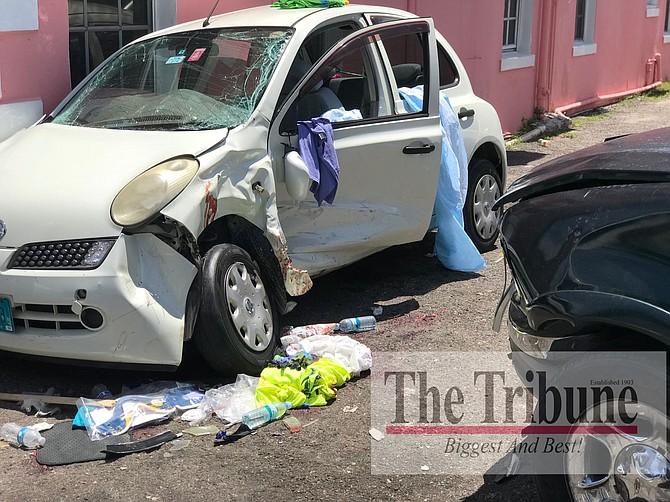 The scene of the crash. Photo: Terrel W Carey