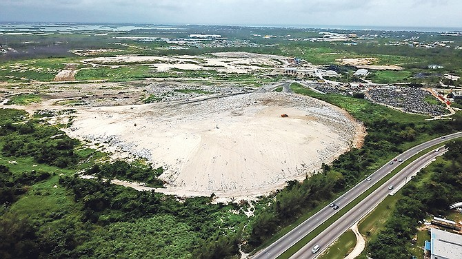 An aerial view of the dump near Milo Butler Highway.