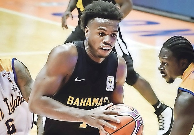 ON THE REPLAY: NBA guard Chavano 'Buddy' Hield drives to the basket against the US Virgin Islands in the FIBA Americas Qualifier for the World Cup yesterday at the Coliseo Roberto Clemente in Puerto Rico.