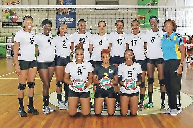 TEAM Bahamas at the Caribbean Zonal Volleyball Association Women's Championship in Paramaribo, Suriname.