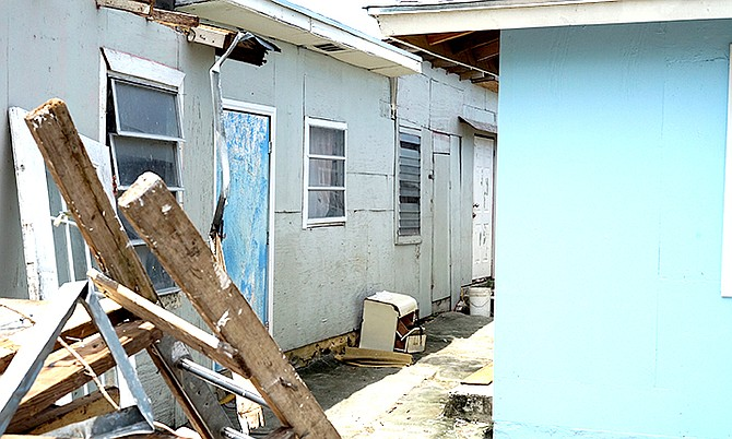 A shanty town off Carmichael Road. Photo: Terrel W Carey/Tribune staff