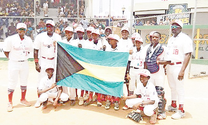 MAKING HISTORY: Freedom Farm Baseball League claimed the bronze with a 6-1 win over Aruba at the Caribbean Regional Qualifier for the Little League World Series in Sabana Grande, Puerto Rico