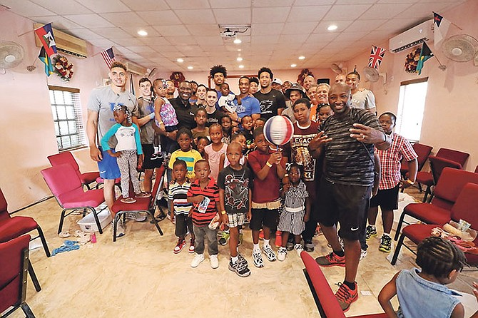 THE KENTUCKY Wildcats partnered with Samaritan's Feet International to conduct a free shoe distribution to children in the Fox Hill area at Faith Assembly of God.