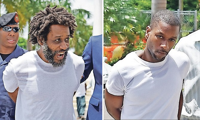 FROM LEFT: Fred Lifaite, 45, and Mario Taylor, 36, outside court.