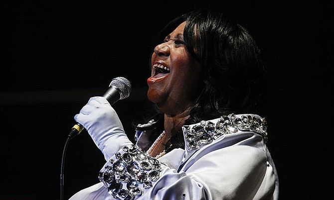 Aretha Franklin performs at The Mann Center for the Performing Arts in Philadelphia in 2010. (AP Photo/Matt Rourke)