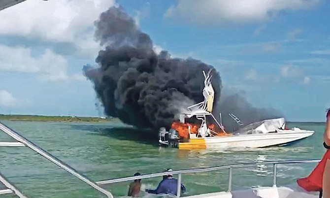 The boat fire in June last year.