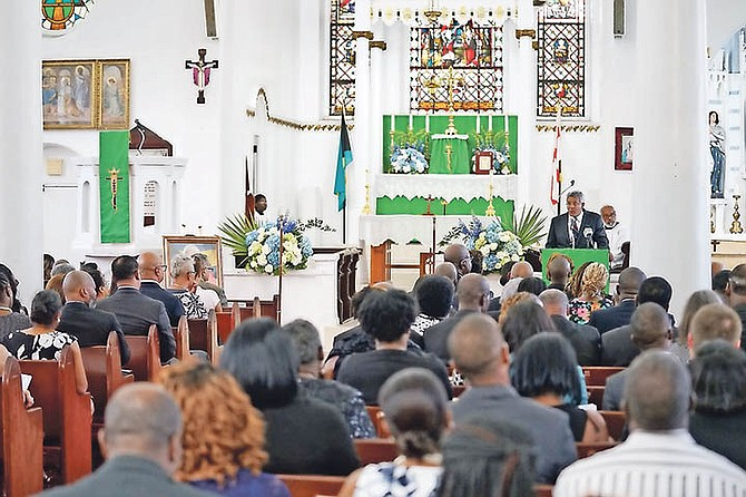 A memorial service held for the late Chief Justice Stephen Isaacs at St Matthews Church last night. Photo: Terrel W Carey/Tribune Staff