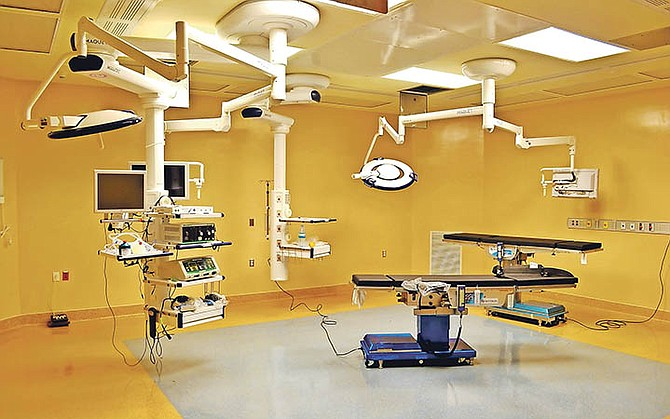 An operating theatre inside the Critical Care Block at PMH.