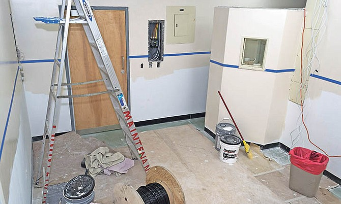 Improvements underway at the Radiology Department of the Princess Margaret Hospital.