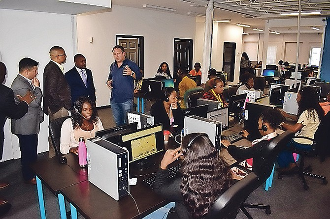 Island Outsource/Itelbpo has expanded its call centre facility in Freeport.