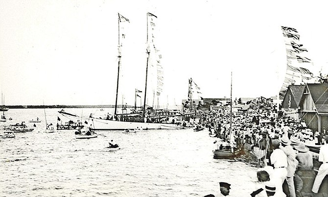 The departure of the gallant Bahamians in 1915 on the sloop Varuna.