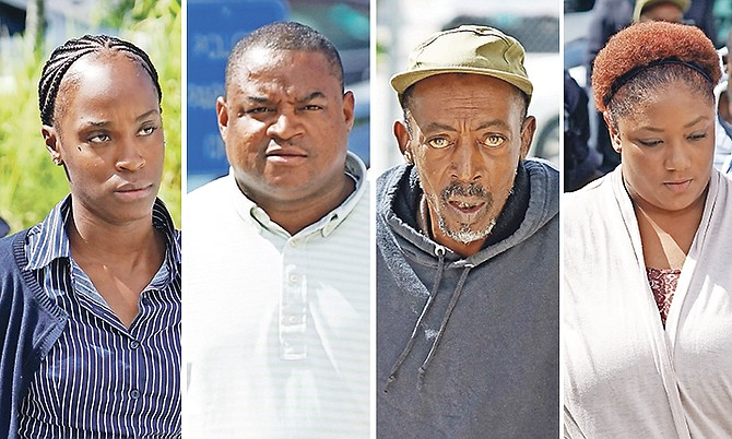 FROM LEFT: Christin Reckley, 26, guilty of the double traffic fatality on Marathon Road last month; Kareem Bowe, 37, guilty in a traffic fatality of Jean Lubin on June 23; Floyd Weech, 57, guilty over a traffic fatality on Robinson Road that claimed the life of Andre Sands and Taylor Pratt, 26, guilty over the traffic fatality of Marvin Pinder last month.  Photos: Terrel W Carey Sr/Tribune Staff