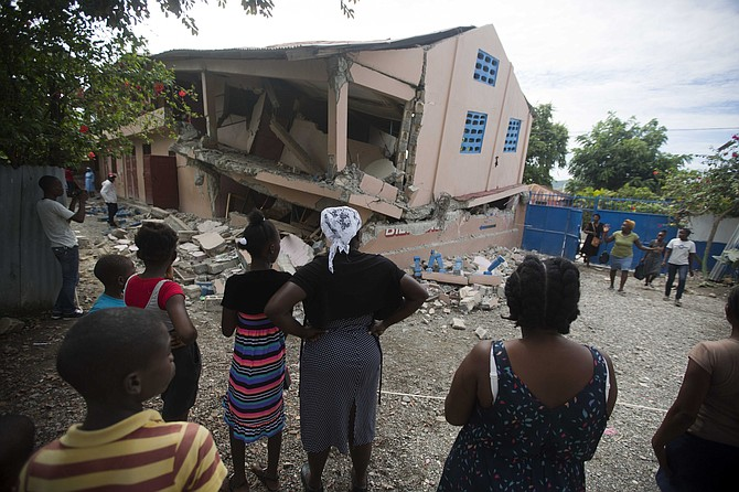 The aftermath of the earthquake in Haiti. (AP)