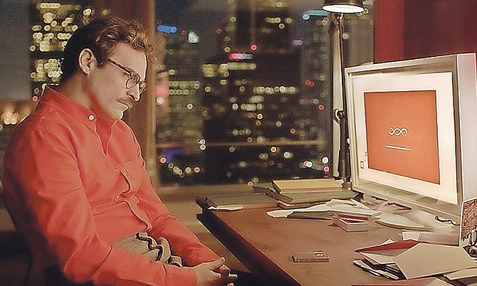 Joaquin Phoenix in the movie Her.