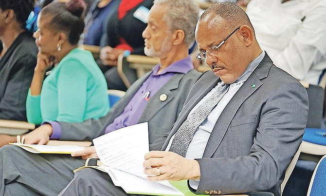 Dr Duane Sands, Minister of Health, pictured during the recent World Mental Health Day Conference. Photo: Terrel W Carey Sr/Tribune Staff