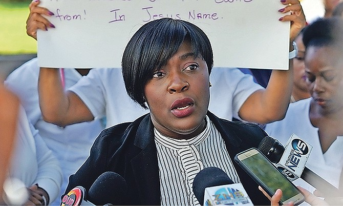 Bahamas Nurses Union President Amancha Williams. Photo: Terrel W. Carey Sr/Tribune Staff