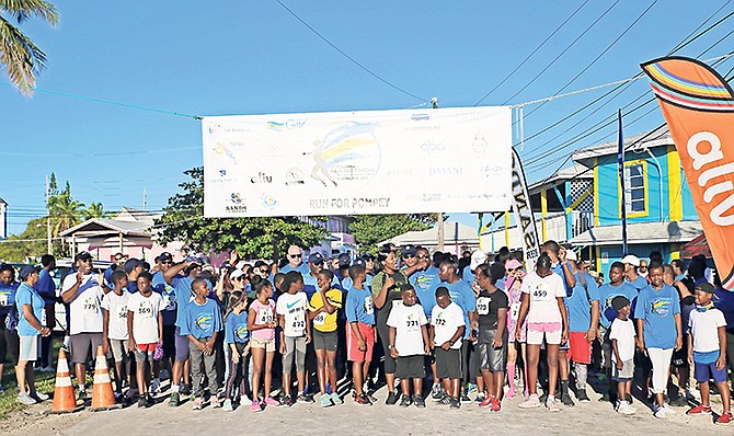 STARTING LINE: The Exuma Marathon, featuring the Run for Pompey, sold out last Saturday for the first time, attracting more than 250 runners from home and abroad.