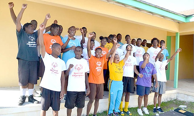 Athletes and unified partners at the World Games Training Camp held November 16-18.