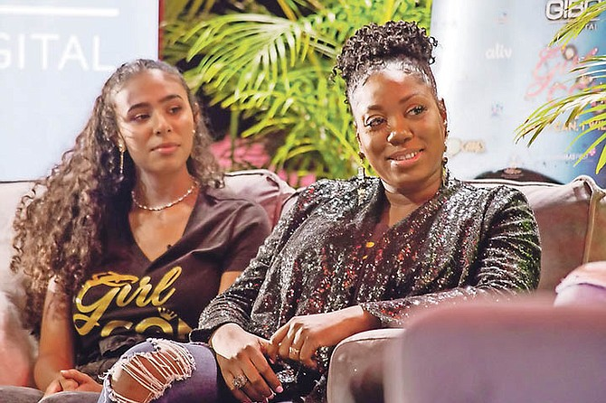 Singer Angelique Sabrina with entrepreneur Italia Williams-Wilson.