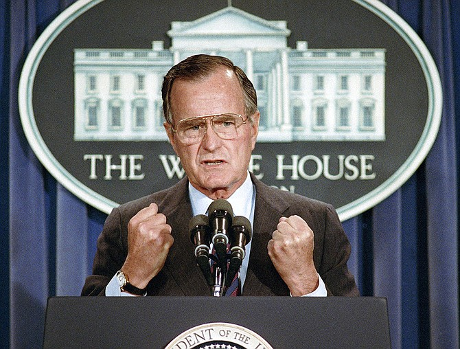 Former U.S. President George H.W. Bush, pictured in 1989. (AP)